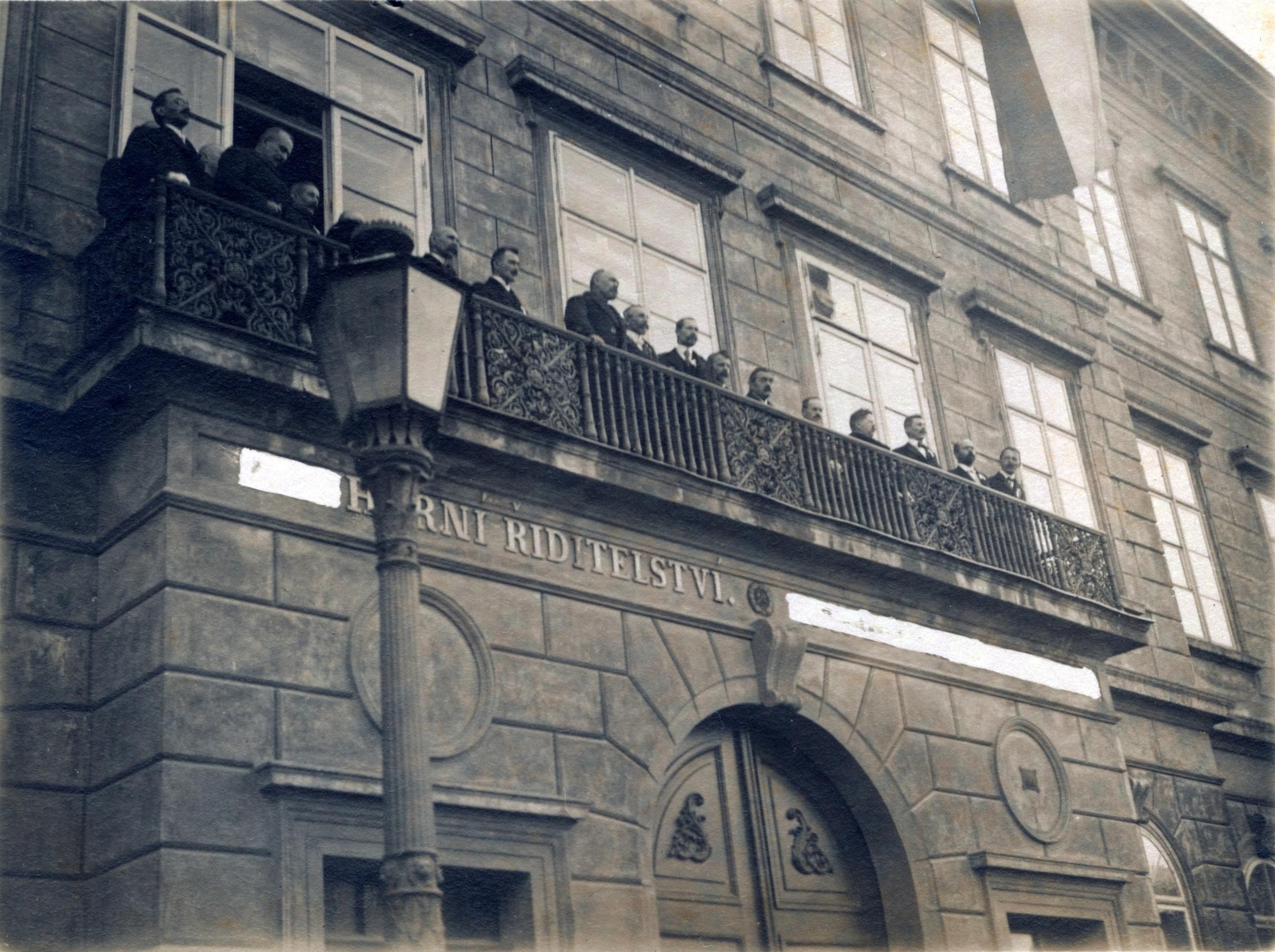 Vyhlášení samostatného Československa v Příbrami