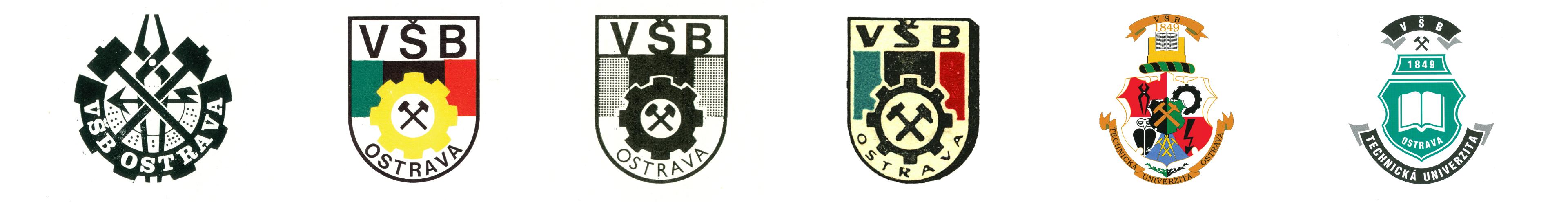 Vývoj loga VŠB-TUO.