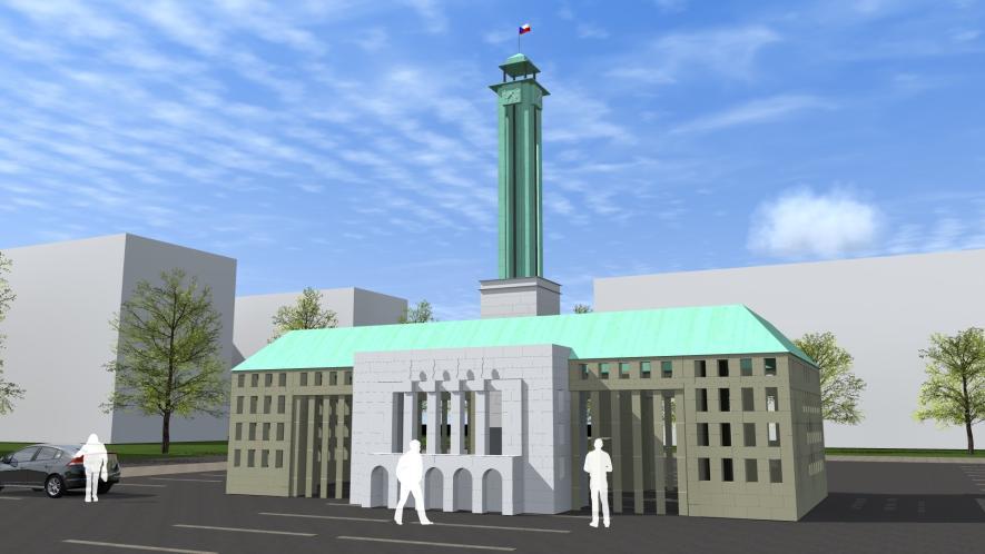 Na VŠB-TUO vzniká čtrnáctimetrová stavba ostravské radnice