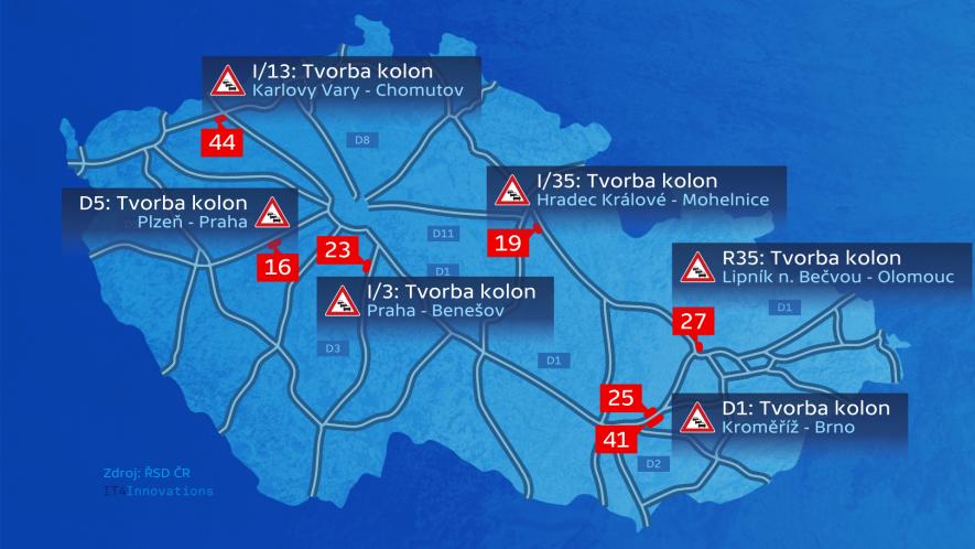 Náš informační systém viaRODOS využívá pro své dopravní zpravodajství i Česká televize