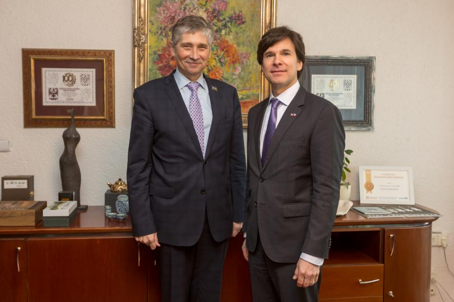 Americký velvyslanec navštívil VŠB-Technickou univerzitu Ostrava