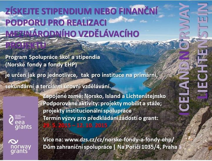 Výzva v rámci Programu CZ07 (Norské fondy a fondy EHP)