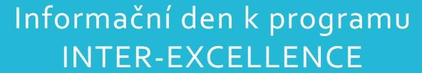 Seminář k programu INTER-EXCELLENCE