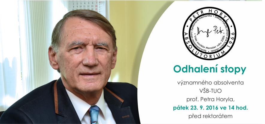 Absolventi VŠB-TUO z roku 1966 se společně sejdou u Zlaté promoce a odhalení stopy profesora Petra Horyla