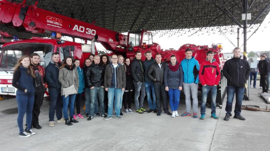 Exkurze studentů u Záchranného útvaru HZS ČR v Hlučíně