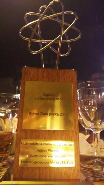 """Kampaň """"Budoucnost má hloubku"""" získala mimořádné ocenění Prima Zlatá pecka za rok 2016"""