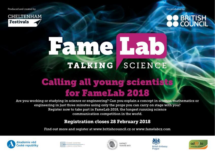 FameLab 2018 – bavme se vědou