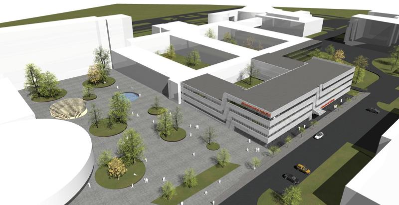 Vizualizace nové budovy Ekonomické fakulty