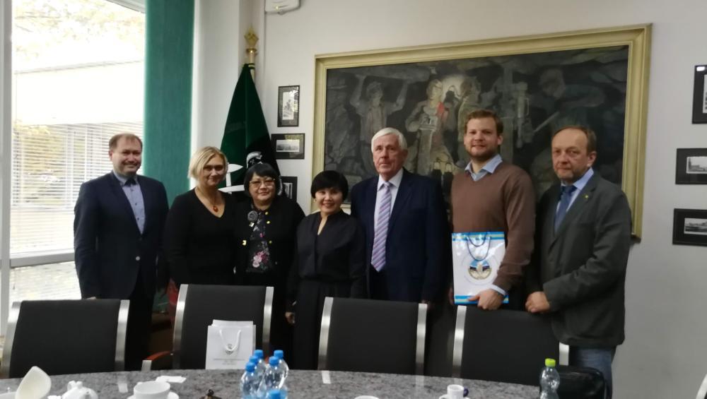 Vyslankyně Al-Farabi Kazakh National University na HGF VŠB-TU Ostrava