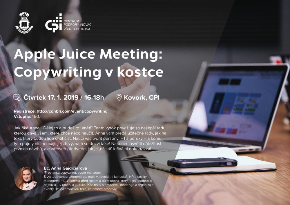Apple Juice Meeting: Copywriting v kostce
