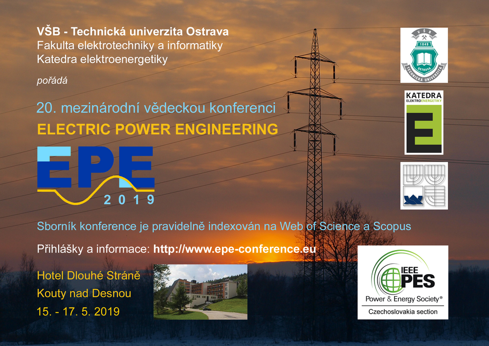 20th International Scientific Conference on Electric Power Engineering (EPE)