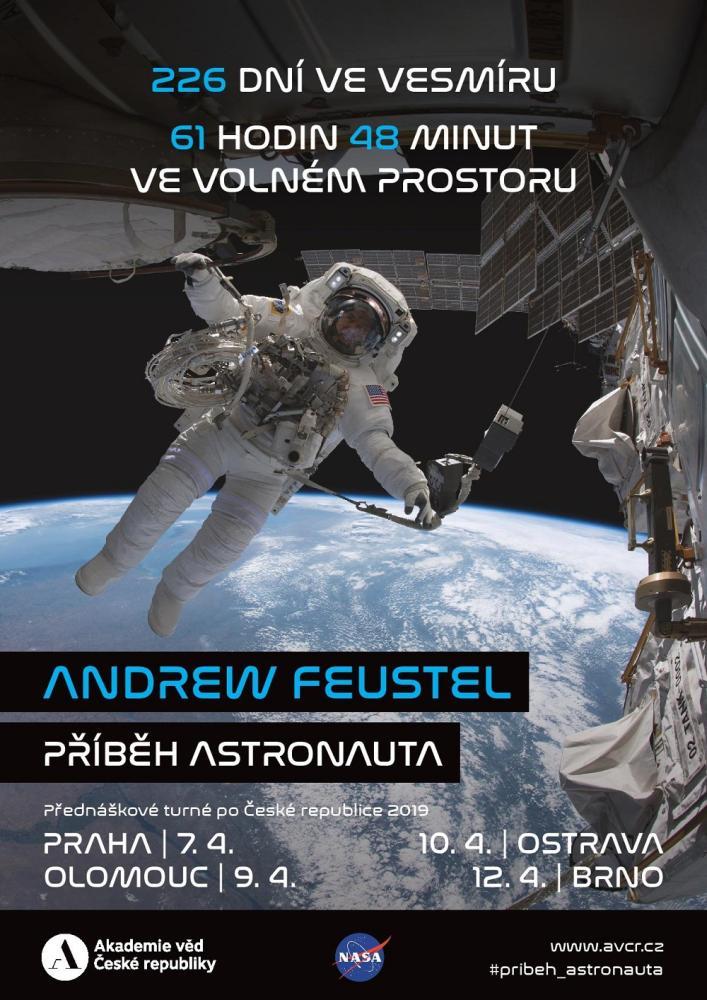 Příběh astronauta: Na turné pro veřejnost do České republiky přijede astronaut Andrew Feustel