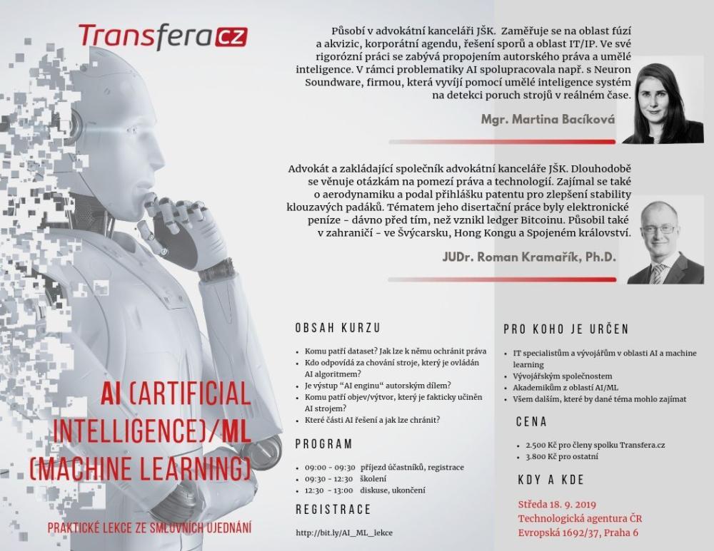 AI (Artificial Intelligence)/ML (Machine Learning): lekce ze smluvních ujednání