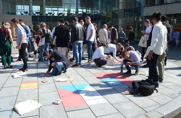 Welcome Ceremony for new foreign students
