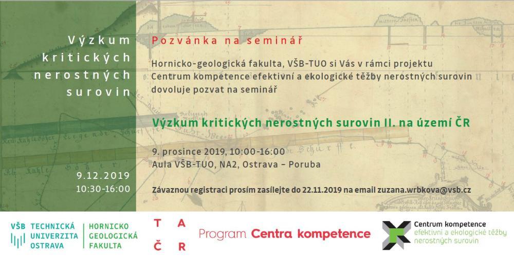 Výzkum kritických nerostných surovin II. na území ČR