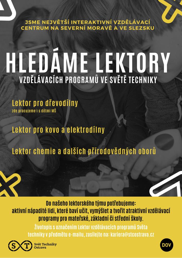 Lektor vzdělávacích programů  (Svět techniky Ostrava)