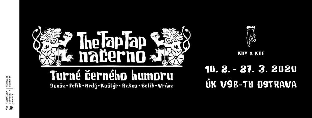 Ústřední knihovna VŠB-TUO pořádá výstavu vtipů o lidech s hendikepem – The Tap Tap načerno