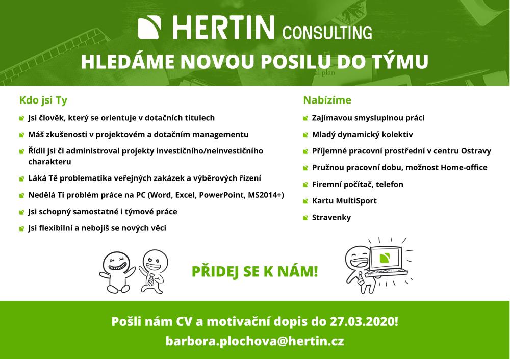 Projektový manažer (HERTIN CONSULTING)