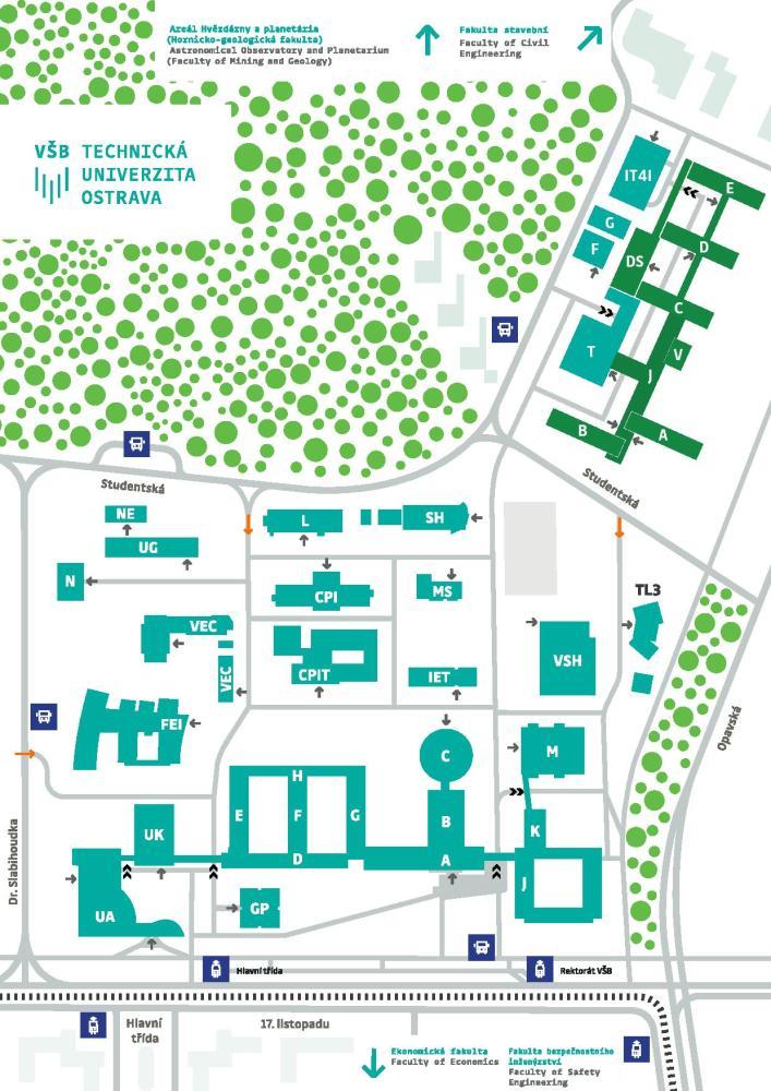 Nový navigační systém univerzity změnil i názvy některých budov