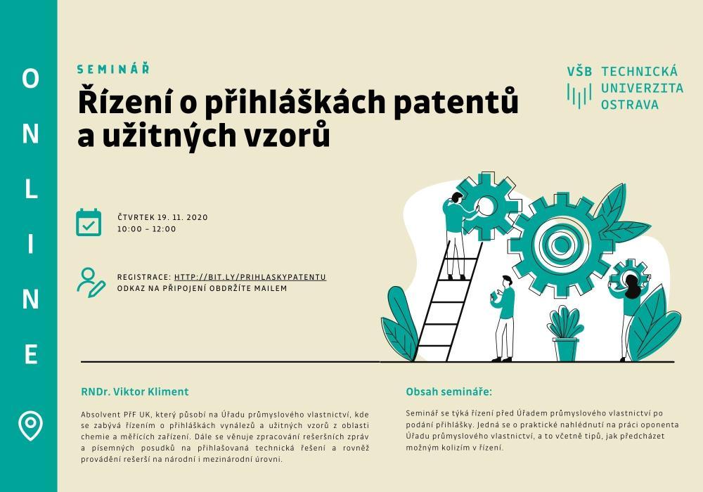 Řízení o přihláškách patentů a užitných vzorů