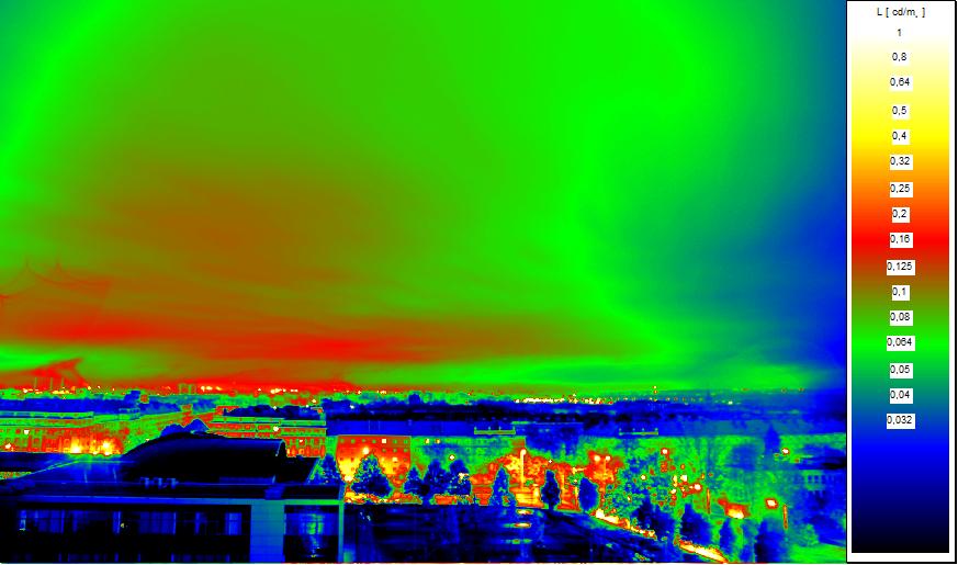 Measurement of obtrusive light in Ostrava