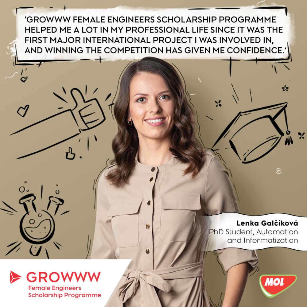 Stipendijní program GROWWW pro studentky technických oborů