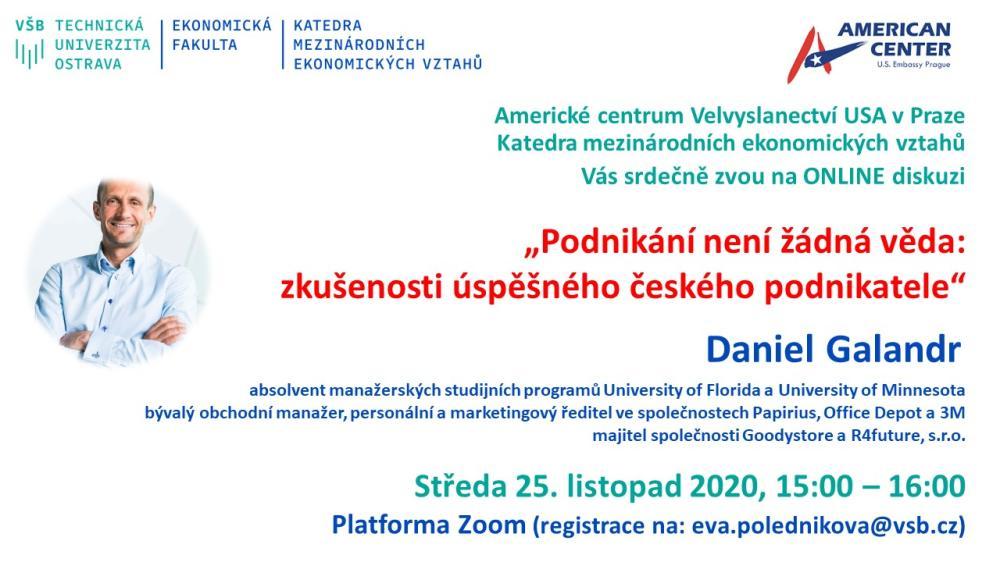"""Pozvánka na ONLINE debatu: """"Podnikání není žádná věda: zkušenosti úspěšného českého podnikatele"""""""