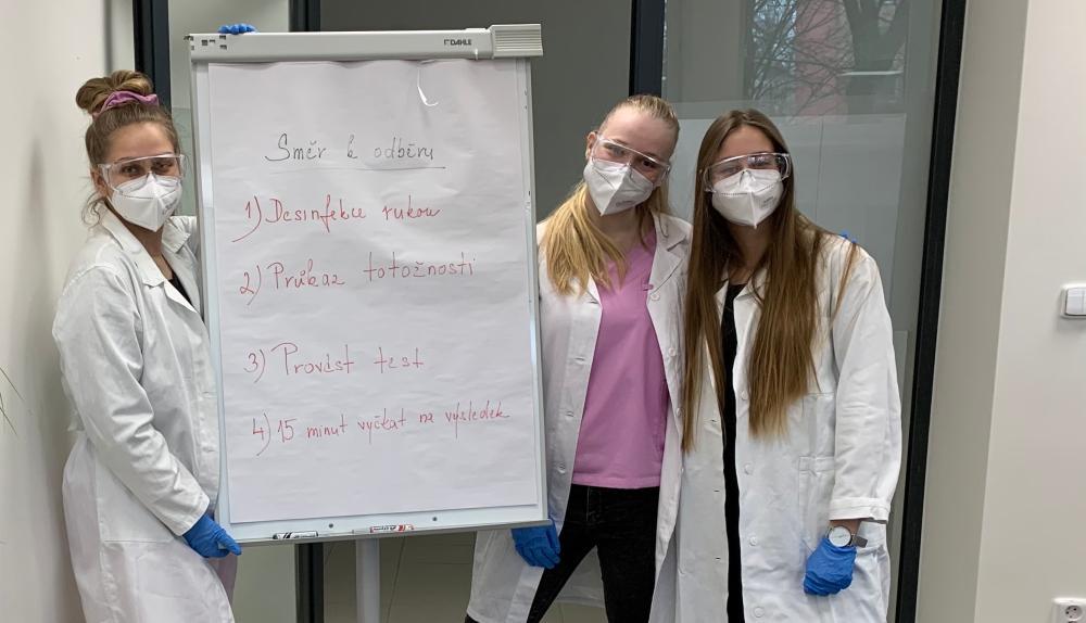Studenti biomedicíny pomáhají s testováním zaměstnanců VŠB-TUO