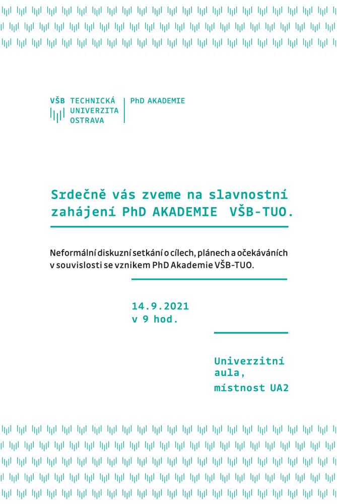 VŠB-TUO slavnostně spouští PhD Akademii