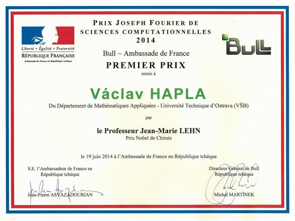 Prestižní cena Josepha Fouriera za počítačové vědy