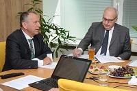 Vedení univerzity diskutovalo s europoslancem Tošenovským o evropských projektech