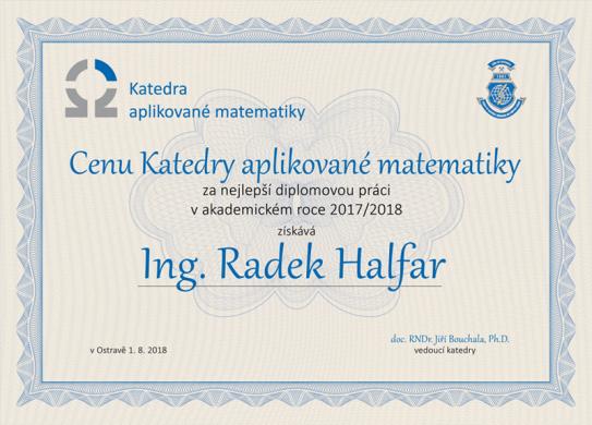 Cena Katedry aplikované matematiky