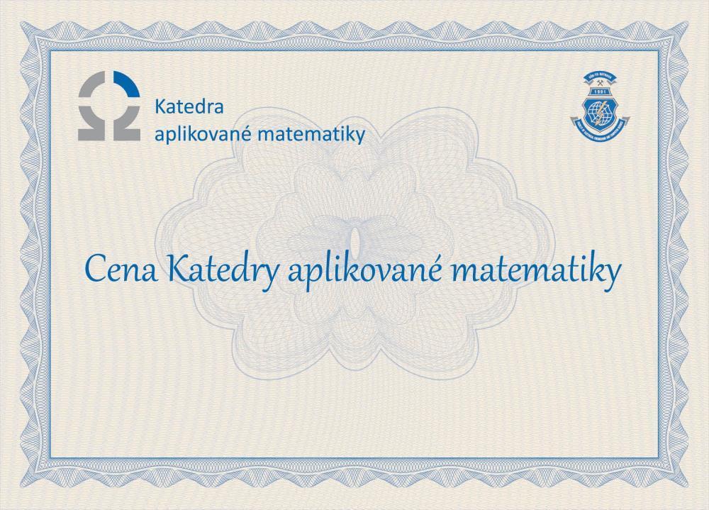Ceny Katedry aplikované matematiky