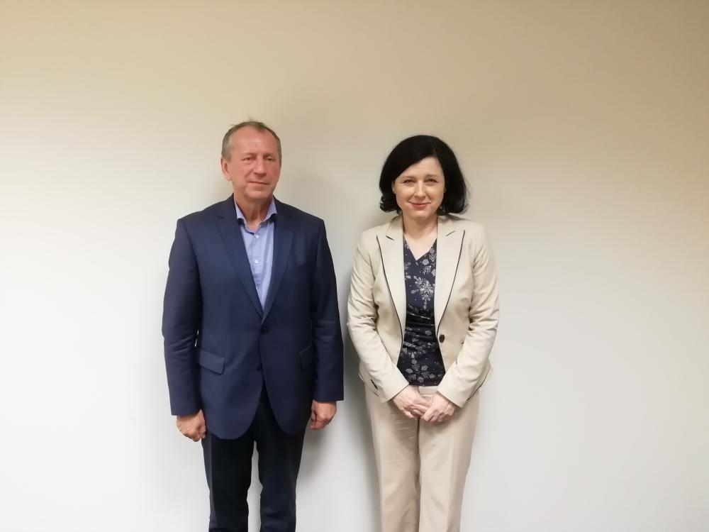 Setkání rektora VŠB-TUO s komisařkou Věrou Jourovou
