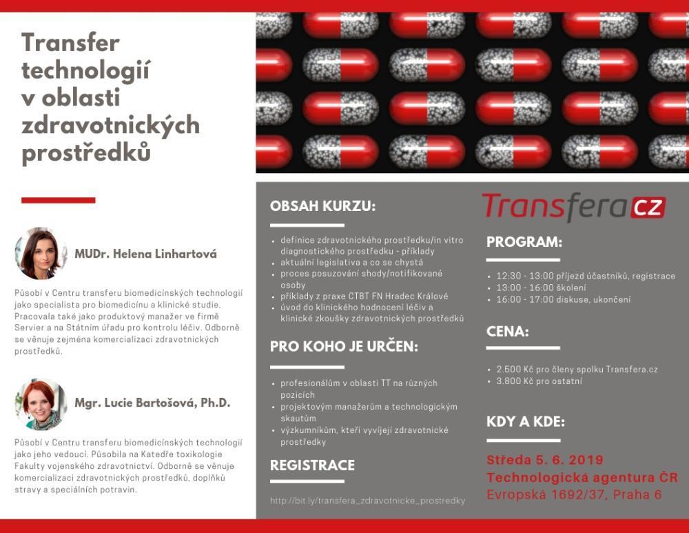Vzdělávací kurz: Transfer technologií v oblasti zdravotnických prostředků