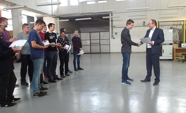 Certifikace studentů navazujícího studijního oboru robotika