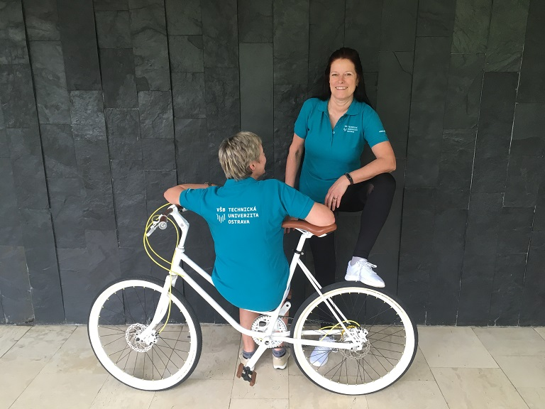 Akce Do práce na kole se zúčastnila i VŠB-TUO