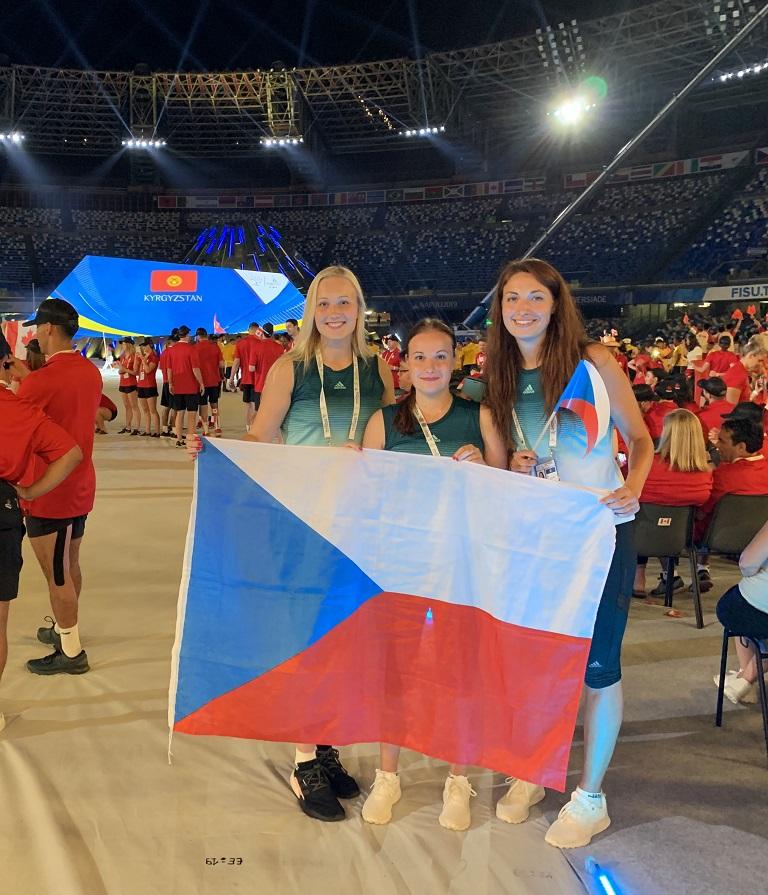 Studentky VŠB-TUO reprezentují na 30. letní Světové univerziádě v Neapoli
