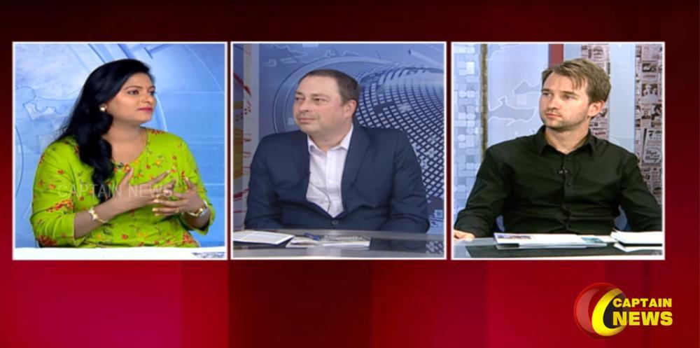 Prezentace univerzity v indické televizi