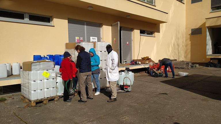 VŠB-TUO připraví tisíce litrů dezinfekce pro Krajský úřad MSK