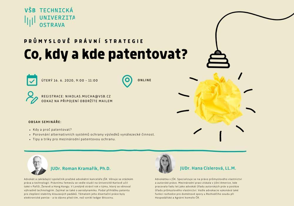 Co, kdy a kde patentovat?