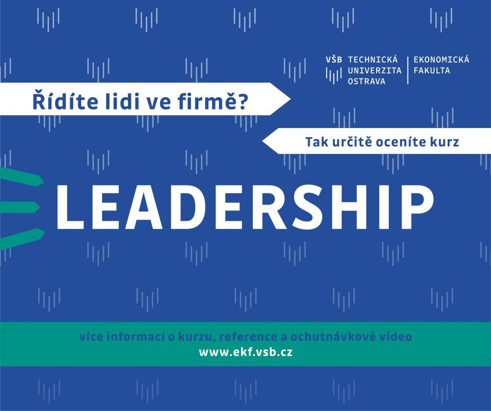 Kurz LEADERSHIP aneb jak efektivně vést a řídit